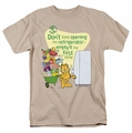 Garfield t-shirt Empty It mens sand