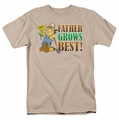 Garfield t-shirt Father Grow's Best mens sand