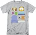 Garfield t-shirt Gift Set mens athletic heather