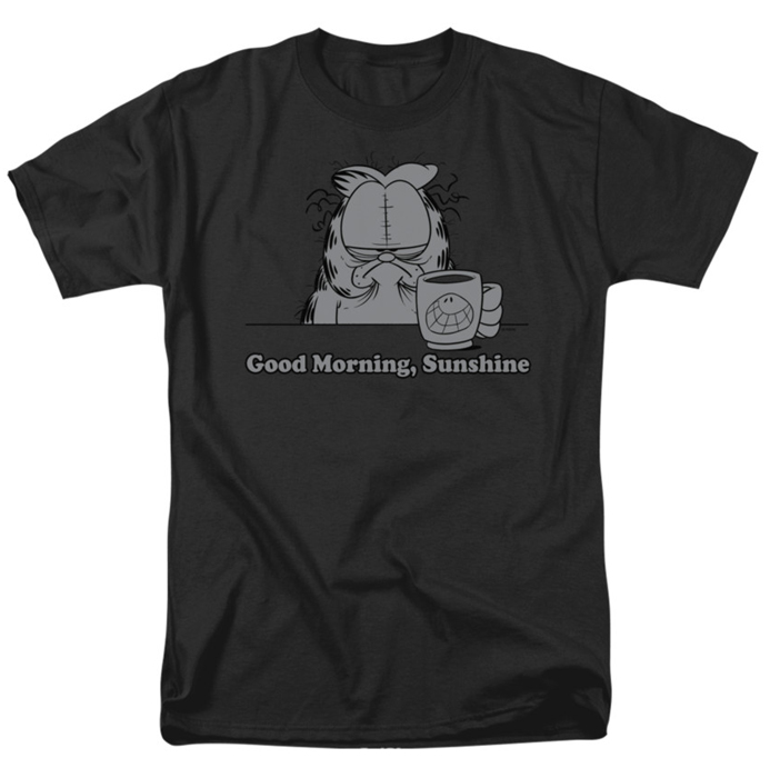 Good Morning Sunshine Shirt : Garfield t shirt good morning sunshine mens black