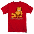 Garfield t-shirt Happy Face mens red