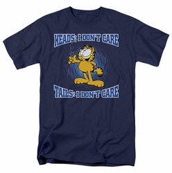 Garfield t-shirt Heads Or Tails mens navy