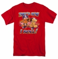 Garfield t-shirt How I Roll mens red