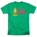 Garfield t-shirt I Ate My Homework mens kelly green