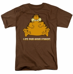 Garfield t-shirt I Ate Your Honor Student mens coffee