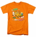 Garfield t-shirt I Can mens orange