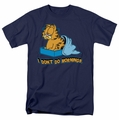 Garfield t-shirt I Don't Do Mornings mens navy