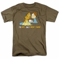Garfield t-shirt I'll Rise mens safari green