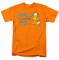 Garfield t-shirt I Probably Did It mens orange