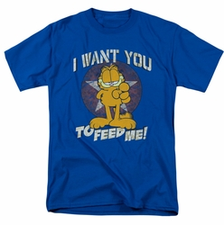 Garfield t-shirt I Want You mens royal