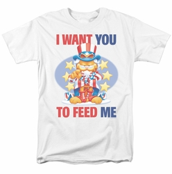 Garfield t-shirt I Want You mens white