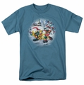 Garfield t-shirt Ice Skating mens slate