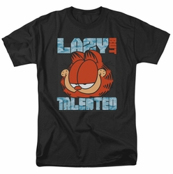Garfield t-shirt Lazy But Talented mens black