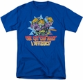 Garfield t-shirt Make A Difference mens royal blue