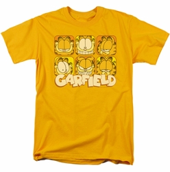 Garfield t-shirt Many Faces mens gold