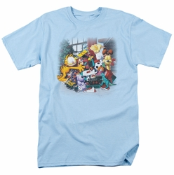 Garfield t-shirt Mine! mens light blue