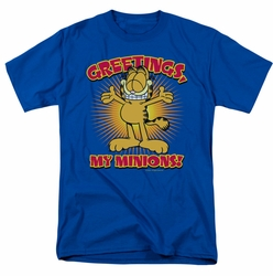 Garfield t-shirt Minions mens royal