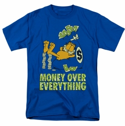 Garfield t-shirt Money Is Everything mens royal
