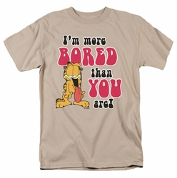Garfield t-shirt More Bored mens sand