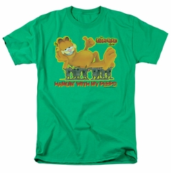Garfield t-shirt My Peeps mens kelly green