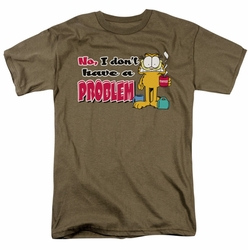 Garfield t-shirt No Problem mens safari green