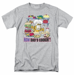 Garfield t-shirt Now Dad's Cooking mens heather