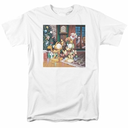 Garfield t-shirt Odie Tree mens white