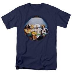 Garfield t-shirt Playing With The Big Dogs mens navy