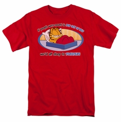 Garfield t-shirt Pop Out Of Bed mens red