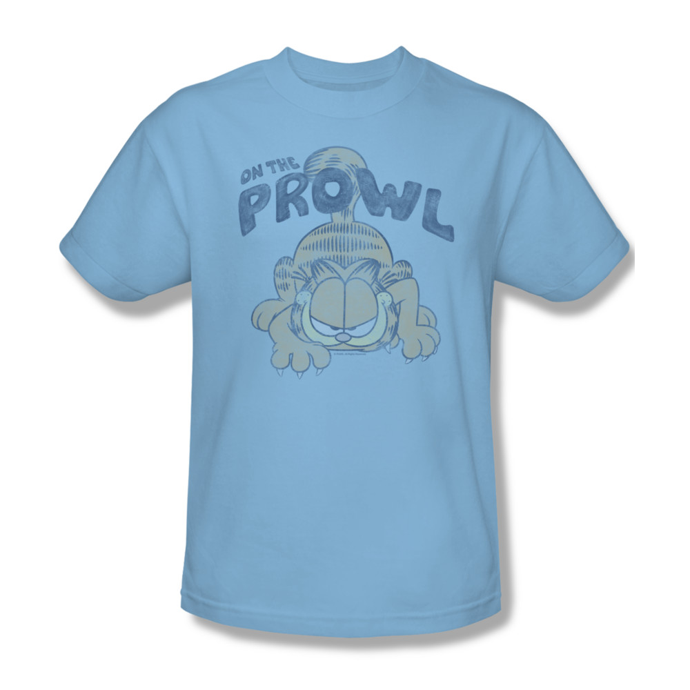 Garfield t shirt prowl mens light blue Light blue t shirt mens