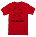 Garfield t-shirt Pull My Finger mens red