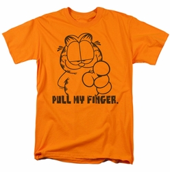 Garfield t-shirt Pull My Finger mens orange