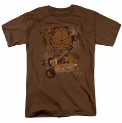 Garfield t-shirt Rock Rules mens coffee