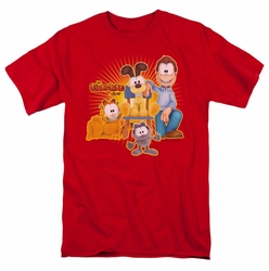 Garfield t-shirt Say Cheese mens red