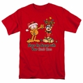 Garfield t-shirt Share The Season mens red