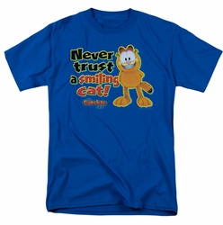 Garfield t-shirt Smiling mens royal