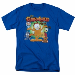 Garfield t-shirt The Garfield Show mens royal