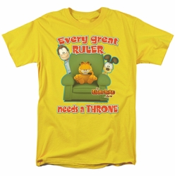 Garfield t-shirt Throne mens yellow