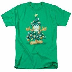 Garfield t-shirt Tree mens kelly green