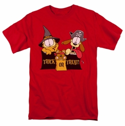 Garfield t-shirt Trick Or Treat mens red
