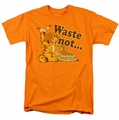 Garfield t-shirt Waste Not mens orange
