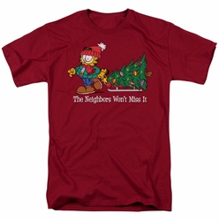 Garfield t-shirt Won't Miss It mens cardinal