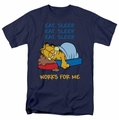 Garfield t-shirt Works For Me mens navy