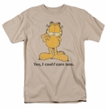 Garfield t-shirt Yes I Could Care Less mens sand