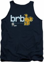 Garfield tank top Be Right Back mens navy