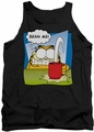 Garfield tank top Bean Me mens black