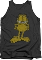 Garfield tank top Big Ol' Cat mens charcoal