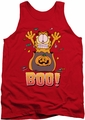 Garfield tank top Boo! mens red