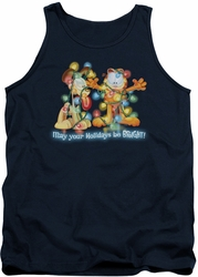 Garfield tank top Bright Holidays mens navy
