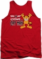 Garfield tank top Cat Man mens red